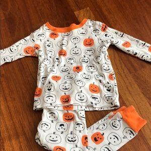 Halloween pumpkin pajamas 24 months